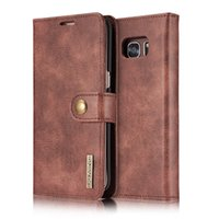 Wholesale Galaxy Card Case - Wallet Case For Samsung Galaxy S7 S7 Edge Genuine Leather Purse 2 in 1 Detachable Multifunction Wallet Flip Wallet with Card Slots