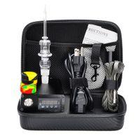 Wholesale Single Cheap - E Cheap Nail Vaporizer E Quartz Nail Electric Dab Nail Complete Kit withTemperature Controller 100w