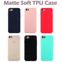 Wholesale Light Protectors - For iphone X 8 Ultra thin Matte Soft TPU Case Rubber Slim Silicone Flexible Back Protectors Case Cover For iphone 7 7 plus