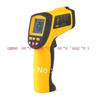 Dropshipping IR Thermomètre Laser Point -50 ~ 900 degrés Non-Contact Digital LCD Temperature Gun Infrarouge GM900 Livraison gratuite