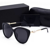 logos pour dames achat en gros de-2018 femme lunettes de soleil designer de luxe avec boîte logo UV400 polarisant des lunettes de soleil de mode pour les femmes lunettes de soleil de cadre de perle