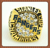 Wholesale New York Ring - Free Shipping For 1994 New York Stanley Cup Ranger Championship Ring Gold Plated World Series Alloy Rings For Men Collection