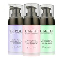 Wholesale full face protector - Wholesale-Hot sale Primer Makeup Cream Face Color Correction Lotion Moisturizing Pores Invisible Foundation Concealer Cosmetic Protector 40g