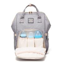 mochila para madre bebe al por mayor-Maternidad Nuevo multifuncional Mochilas para bebés Mochila Mamá Bolsa cambiante Mamá Mochila Panal Maternidad Mochilas