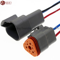 10 cm copper cable 16 AWG(1.25mm sq) speed sensor connector - Grey Deutsch DT06 S and DT04 P Pin Engine Gearbox waterproof electrical connector for car bus truck boats