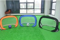Wholesale Wholesale Kids Tents - 2017 Children Movement Football Tent Outdoor Indoor Foldable For Game Football Tent Activity Multi-functional Beach Toy Pop Up