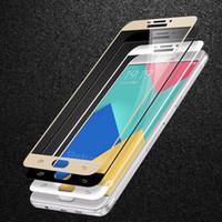 ingrosso seta più-Per iphohne X 8 5 5 s 6 6 s plus 7 plus Galaxy S6 S7 NOTE 5 9H Full Cover colorato in vetro temperato proteggi schermo in seta stampato 100 pezzi colla