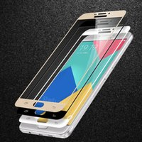 couvertures d'écran coloré iphone achat en gros de-Pour iphohne X 8 5 5s 6 6s plus 7 plus Galaxy S6 S7 NOTE 5 9H Couverture Complète Coloré Protecteur D'écran En Verre Trempé Imprimé Soie 100pcs