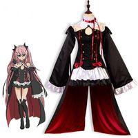 écharpes imprimées animales en gros achat en gros de-Gros-Anime Seraph de la fin Owari sans Seraph Krul Tepes uniforme cosplay Costume complet Set robe tenue taille S-XL