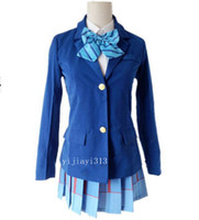 Wholesale love live cosplay for sale - Hot Sale Girls New School Uniforms Anime Love Live Cosplay Costumes Girls Cute Peppy Japan Japanise Ladies Hot Costumes for Sale