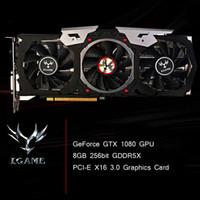 Wholesale Card 256 Bit - New Colorful NVIDIA GeForce GTX iGame 1080 GPU 8GB 256bit GDDR5X PCI-E X16 3.0 VR Ready Video Graphics Card DVI+HDMI+3*DP Port