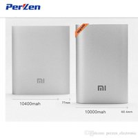 Wholesale Cheapest External Batteries - Cheapest! 100% Original Xiaomi Power Bank 10000mAh External Battery Portable Charger free shipping 50pcs lot for iPhone samsung htc and more