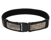 Free black nylon web belt - 2 quot Airsoft Tactical Belt Load Bearing Combat Heavy Duty Web Belt Durable Nylon Hiking Sportswear Hunting Accessories