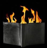 Wholesale Magic Fire Wallets - Magic Trick Flame Fire Wallet Leather Magician Stage Street Inconceivable Show Free Shipping YH118