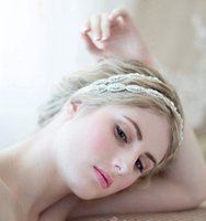 Wholesale Crystal Double Headbands - Bridal Wedding Handmade Double Rhinestone Headdress Bridal Headband Crown 2018 Romantic Double Rhinestone Bridal Tiaras Jewelry Accessories