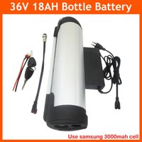 Wholesale Lithium Bike Bottle Battery - 36V 18AH Water bottle battery pack 36V electric bike lithium Ebike battery with BMS 42V 2A Charger use for Samsung cell