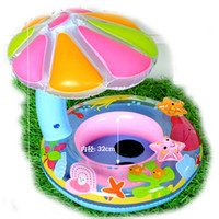 Wholesale Infant Inflatable Pool - Free ship Summer Hot Sale Cute Inflatable Toddler Baby Swim Ring Infant Swimming Pool Water Float Seat with Floret Sun-shading