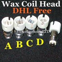 Wholesale Cheapest Ecigs - Cheapest Dual Wax Coils dual coils Ceramic Quartz Cotton Quartz Pancake Coil Head for glass globe Vapor glass globe bulb ecigs