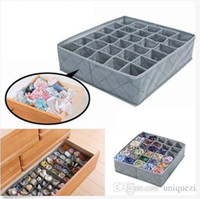 Wholesale Foldable Bamboo Charcoal Underwear Socks Drawer Organizer Storage Box Cells