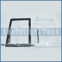 Wholesale 100 Original New For iPad Touch Screen Glass Panel Digitizer Assembly With Home Button Original M Adhesive Sticker Camera Holder