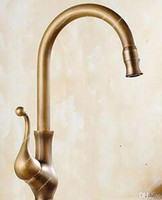 Wholesale Cold Hot Water Faucet - 2017 New Designed Deck Mounted Antique Brass Kitchen Faucet With Cold and Hot Water supply  Other Faucets Showers & Accs HS430