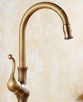 novas torneiras de design venda por atacado-2017 Novo Projetado Deck Montado Antique Brass Torneira Da Cozinha Com Fornecimento De Água Fria e Quente / Outros Torneiras Chuveiros Accs HS430