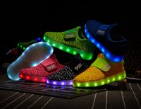 Led Luminous Shoes online - Male children summer children lights LED rechargeable light shoes children's shoes colorful luminous flash sports shoes of the girls
