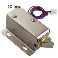 Wholesale Electric Door Control - Free shipping 10 pcs Electronic door lock 12V electric locks cabinet drawer locks small electric lock access control system mini locks