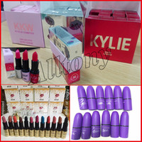 Wholesale Wholesale Hot Cosmetic - HOT NEW Selena Collection MATTE LIPSTICK Fashion Makeup Waterproof Beautiful kylie Cosmetics 12 Color Free Shipping 12Pcs