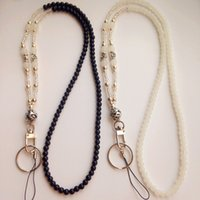 Wholesale Fashion Id Necklaces - Fashion ID Necklace black whiite Beads Necklace Women Beaded Fashion Lanyard for Keys, ID Badge Card Holder