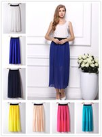 Wholesale Wholesale Green Elastic Skirts - 2016 New Hot Elastic Waist Skirts 20 Colors Casual Elegant Sexy Skirts For Women Beautifull Fashion Mini Women Chiffon Skirt