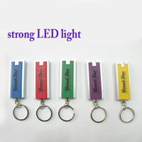 Hot Sale Promotional Gift Product Light Keyrings Custom Your Logo Business Souvenir Plástico LED Lights Keychain