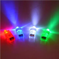 Wholesale 100pcs VERY CHEAP Pull on off non waterproof Light up LED laser finger light beam light