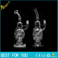 Wholesale glass faberge egg dab rig for sale - Group buy JUNE New Glass bong fab egg Bongs original Faberge Egg smoking Water pipe recycler bong oil rig dabs glass nail