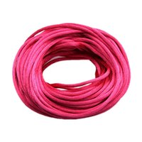 Wholesale Thread For Chinese Knotting - 10m Nylon Chinese Knot Satin Macrame Beading Jewelry Rattail Cords Threads 2mm For DIY Jewelry Making