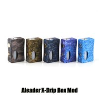 Wholesale Wood For Wholesale - 100% Original Aleader X-Drip Box Mod Resin Wood 18650 Battery Mod With 7ml Squonk Bottle For 510 Thread Atomizer