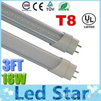 tubo de luz ac 277 v al por mayor-3ft 0.9m T8 18W Led Tubes Light CREE SMD 2835 Lámpara de tubo fluorescente led super brillante, blanco / frío / blanco frío AC 85-277V