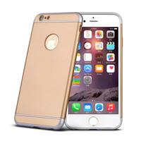 Wholesale Iphone Fashion Logo - Fashion Man Woman 3in1 Design Hybrid Armor Back Case LOGO Window Plastic Protector bags Cover For iphone 6 6s
