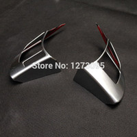Wholesale Mazda Wheel Trims - For Mazda 3 Axela 2014 2015 2016 ABS Chrome Steering Wheel Cover Left Hand Drive Steering Wheel Trim Decoration Car Accessories