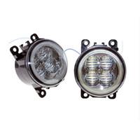 faros antiniebla led ford al por mayor-Para Ford C-Max / Fusion 2013-2014 Car Styling Bumper Angel Eyes LED Lámparas antiniebla DRL Luces antiniebla para conducción diurna OCB Lens car light
