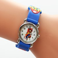 Wholesale Super Mario Cartoon Watch - Free Shipping 1pcs lot Wholesale Super Mario Cartoon Watch,3D Quartz children kids factory price