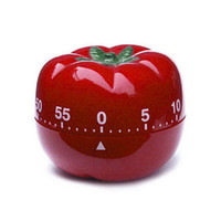 Wholesale Indoor Timers - New 1-60min 360 Degree Fashion Cute Indoor Tomato Mechanical Countdown Timer Kitchen Timers Cooking Tools