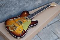 touche à ébène évasée à la guitare électrique achat en gros de-Rare Hybird Jazz Guitare Téléphérique Paul Waller Érable Flamme Marron Guitare Électrique Semi Creux Corps F Trou Bigs Tremolo Bridge Touche En Ebène