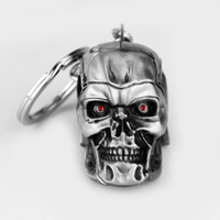 Wholesale Girl Skull Pendant - 65g Fashion Skull Key Chains Rings Metal Purse Bag Charms Pendants Keyrings Keys Hot Novelty Keychains Personalized Gifts Fashion Toys Z1001