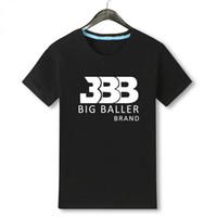Wholesale Man Tshirt Color - Lonzo Jersey No. 2 T-shirt Ball Basketball Male Cotton Short Sleeved Loose BBB Tshirt beatles Palace t shirt