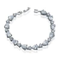 Wholesale Custom Cut Diamonds - wholesale custom silicone bracelets Zirconia Diamond Cut Crystal Tennis Bracelets for women Free Shipping Christmas Gift