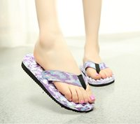 Wholesale Massaging Shoes Slippers - Slippers new camouflage women beach flip flop casual summer beachcflat massage flip flops wholesales shoes slippers sandals