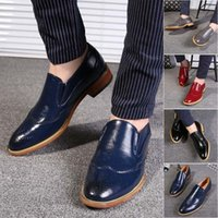 Wholesale New Design Footwear - Casual Brogue Shoes Men Slip-On Novel Style Man Summer Shoes High Quality Fashion Concise Design Male Leisure Footwear 2017 New arriv