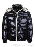 Wholesale Discount Winter Jacket - Winter Down Jacket Men's Warm Brand Designer Hooded Jackets For Men Luxury Parkas Padded Plus Size Coats Discount Sale