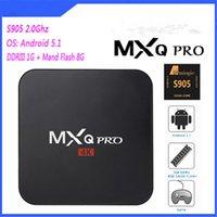 Wholesale Wireless Tvs - Best Internet Digital TV Box CPU Quad Core Infrared Remote Controller Wireless Neutral MXQ PRO Black